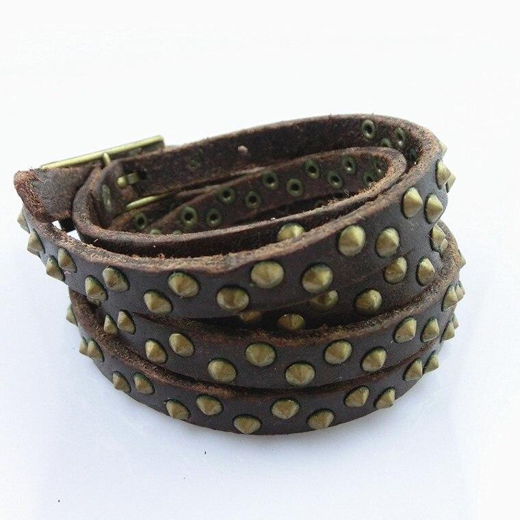 Кожаный браслет фирменный