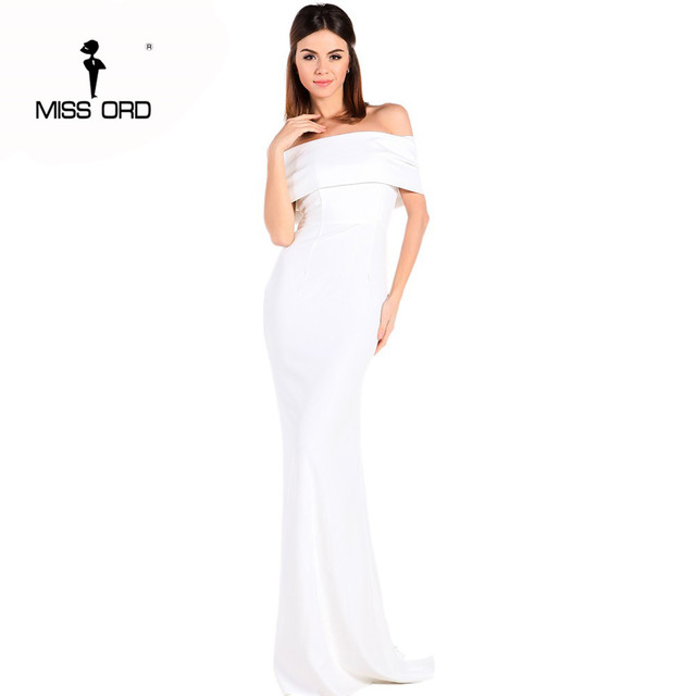 Free Shipping  Missord 2019 Sexy Floor-Lenght Bow backless elegant party dress strapless bodycon  FT3901 1