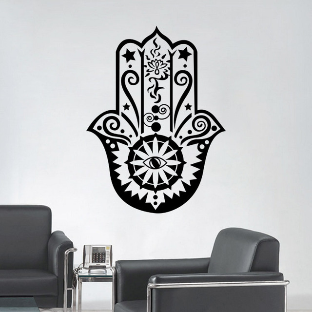 hamsa hand pvc romantic living room bedroom vinyl fatima yoga vibes