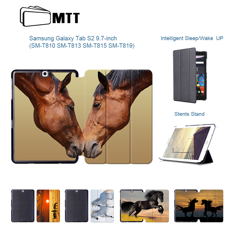 Akhal-teke Horse Case for Samsung Galaxy Tab S2 9.7 case SM T810 T813 T815 T819 stand tablet PU Leather flip cover Fundas Coque mtt printing dolphin ultra thin pu leather case smart folio cover for samsung galaxy tab s2 9 7 t813 t810 t819 t815 tablet stand