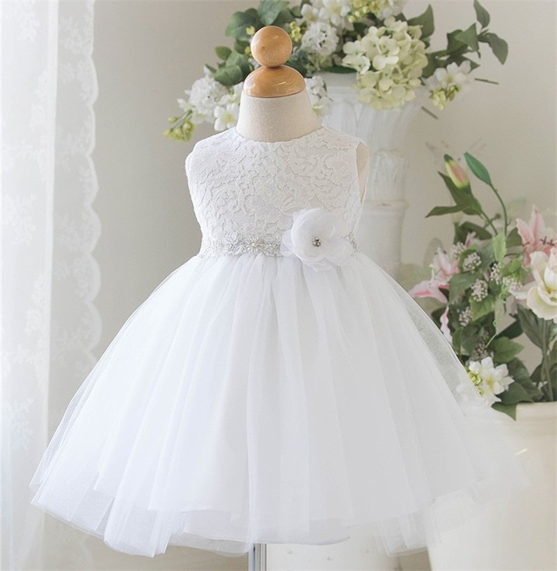White Baby Wedding Dress Clothing Princess Toddler Girl 1 Year Birthday Party Tutu Kids Tulle Dresses For Girls 0 2Y In From Mother