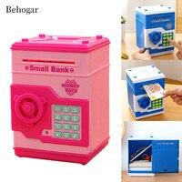 Behogar Safety Mini Electronic Imitation ATM Password Piggy Bank Cash Coin Can Money Bank Kids Gift