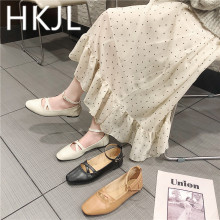 HKJL Womens shoes spring 2019 new style small students lovely Japanese retro soft sister single A553