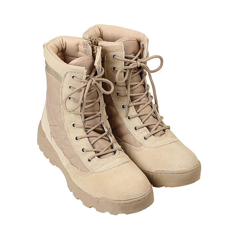 Tactical-Boots Ankle-Training-Boots Army-Fans Military-Soldier Combat Camping-Shoes Desert-Leather