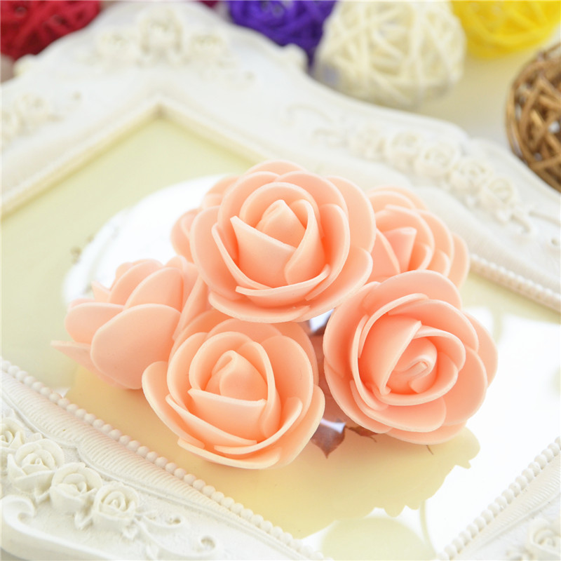 50pcs/Bag Multicolor Mini Rose Head Artificial Flowers For Wedding And Festival Party 22