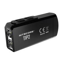 100% Original Mini Licht NITECORE TIP2 CREE XP G3 S3 720 lumen USB Aufladbare Keychain Taschenlampe mit Batterie