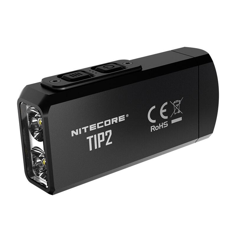 100% Original Mini Light NITECORE TIP2 CREE XP G3 S3 720 lumen USB Rechargeable Keychain Flashlight with Battery-in LED Flashlights from Lights & Lighting