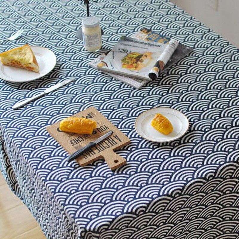 Toalha de mesa Azul Retangular mesa de Jantar Mesa de pano Para Cozinha Decorativo Cornija de Mesa da Festa de Aniversário De Casamento Toalha De Mesa de Linho