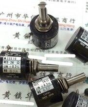 1 pz/lotto Utilizzato L M22S10 2K M22S10 23 2K multi turn filo avvolto potenziometro Argento stampante di Etichette potenziometro 10 giri