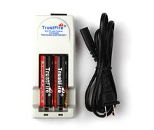 2pcs TrustFire Protected 18650 3.7V 2400mAh Li-ion Rechargeable Battery+TrustFire TR-001 Universal Lithium Battery Charger