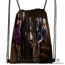 Custom the Vampire Diaries Drawstring Backpack Bag Cute Daypack Kids Satchel Black Back 31x40cm 180531 03