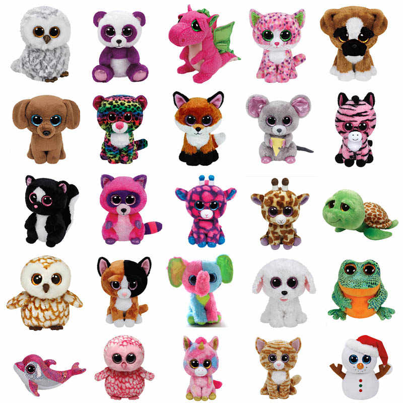 Ty Beanie Boos Stuffed Animal Slick Fox Plush toy Sophie cat Darla dragon  mandy dog lollipop f995e24624bc