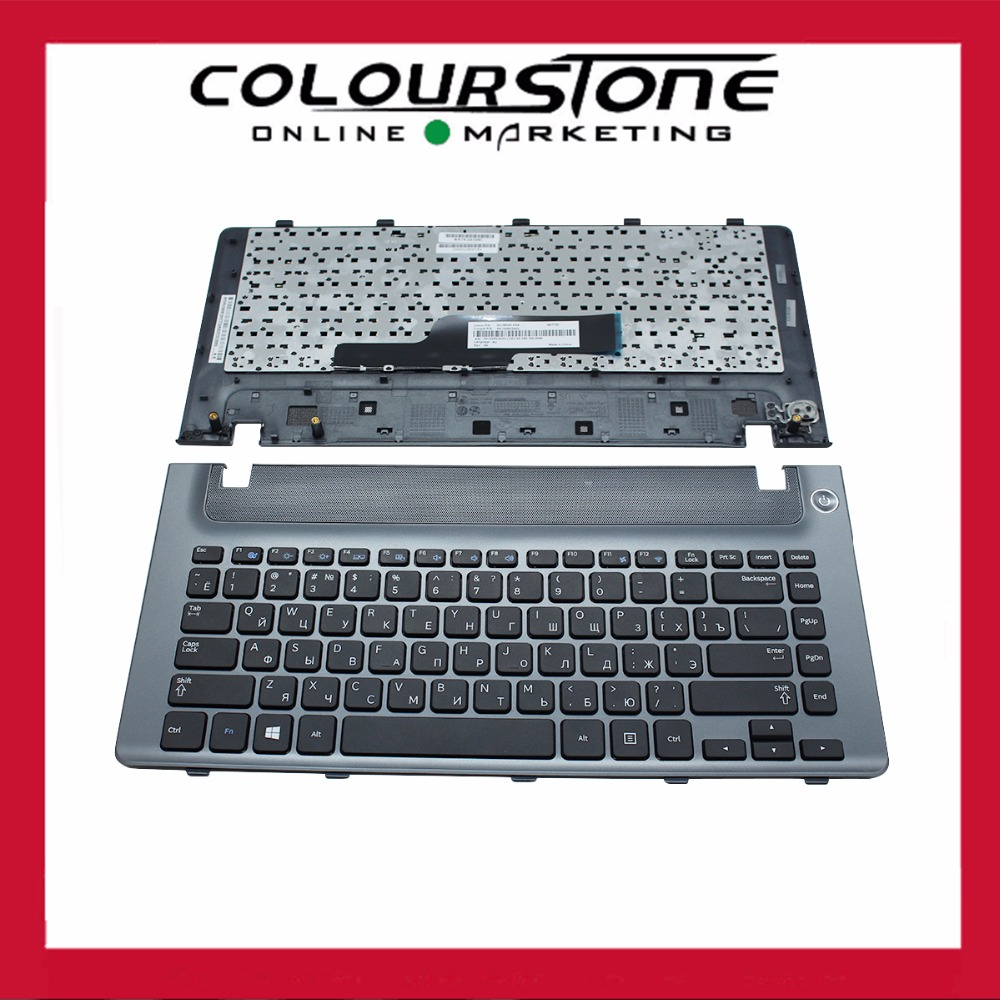 New RUSSIA With Frame Laptop Keyboard For SAMSUNG NP355V4C 355V4C RU Black With Frame Keyboard