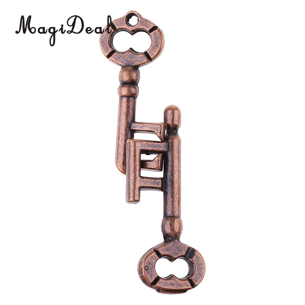 MagiDeal 2Pcs/Lot Key Lock Classic Metal Brain Teaser IQ&EQ Test Toys Puzzle Game for Adults Children Kids Educational Gifts