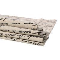 Doreenbeadsヴィンテージコットン&リネンバンドルパッチワーク生地布ホームテキスタイル寝具天然アルファベット縫製diy 158センチ× 92セン