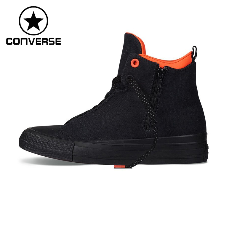 Original Converse Selene Shield Canvas Unisex High top Skateboarding Shoes Canvas Sneakers original converse selene monochrome leather women s skateboarding shoes sneakers