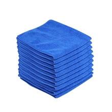 10 шт. синий автомобиль чистящая ткань наборы детализирующие Mirofiber мягкая ткань для полировки полотенце для мытья машины полотенца для мытья машины очистка автомобиля# N