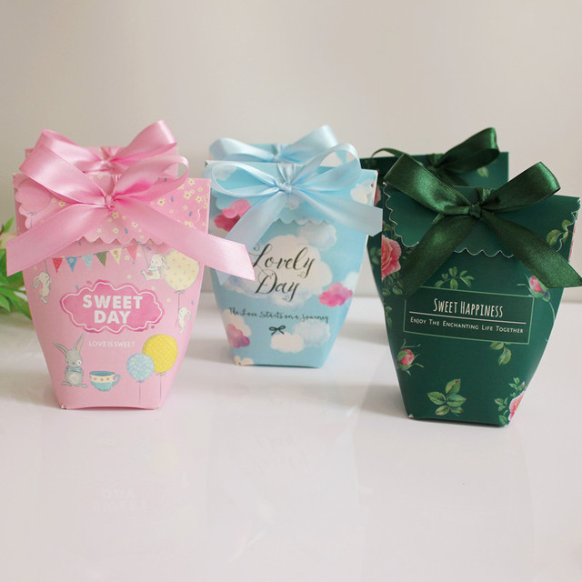 Chocolate Candy Bar Wedding Favor Candy Box Return Package Gifts