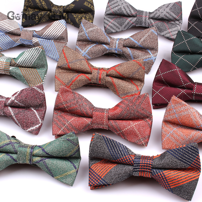 Brand Plaid Bow Tie For Men Butterfly Cravat Bowtie Tuxedo Adjustable Bows Groom Wedding Party Adult Bowties