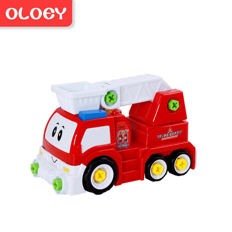 Diy Demontage Montage Speelgoed Voor Kinderen Ingenieur Vrachtwagen Auto Helicopter Trein Educatief Blokken Speelgoed Schroevendraaier Moer # Car004 Goede Warmteconservering