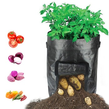 Reusable PE Woven Potato Cultivation Planting Garden Pots Planters Vegetable Planting Grow Bags Farm Greenhouse Seedlings Bags