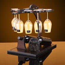цена на Creative Plane style wood wine rack European fashion bar wine rack wine glass holder