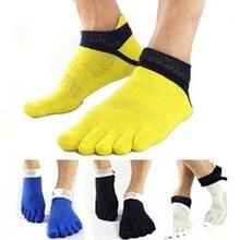 High Quality Five Finger Toe Moisture Absorption Men s Socks Short tube Mesh finger Meias Elasticity