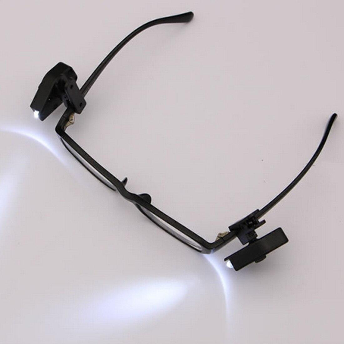 2pcs Flexible Book Reading Lights Night Light For Eyeglass And Tools Mini LED Eyeglass Clip On Universal Portable