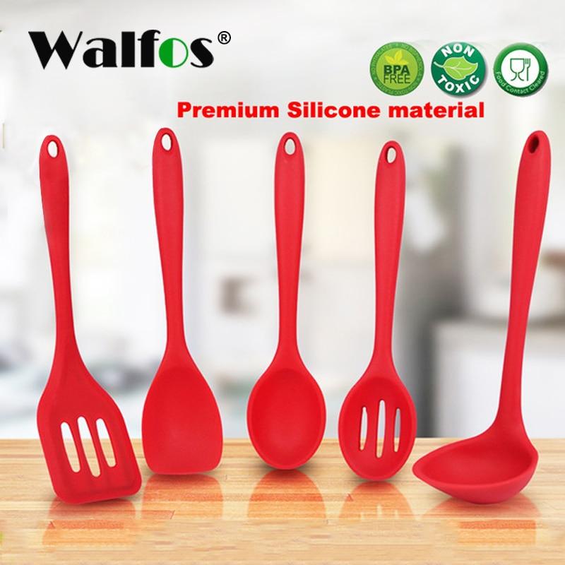 WALFOS Kochspatel Turner Spoonula Rührlöffel Schlitzlöffel - Küche, Essen und Bar