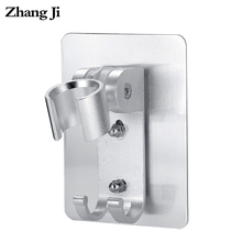 ZhangJi Bathroom Aluminium Shower Head Holder Dual Install Self-Adhisive Rustproof Adjustable No Drill Showerhead