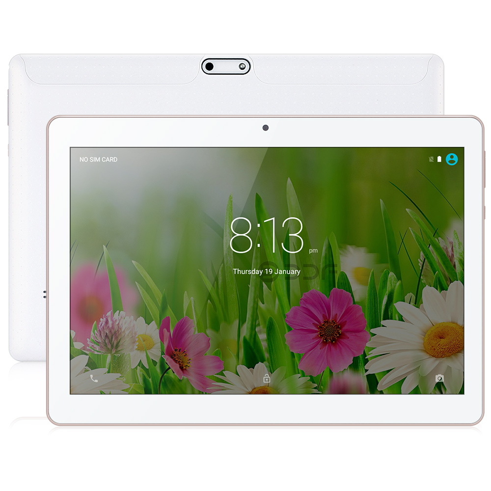 BDF New Android 7.0 10 Inch MTK Octa Core Dual Sim 3G Network 4GB+64GB 1280*800 IPS LCD WIFI Tablets