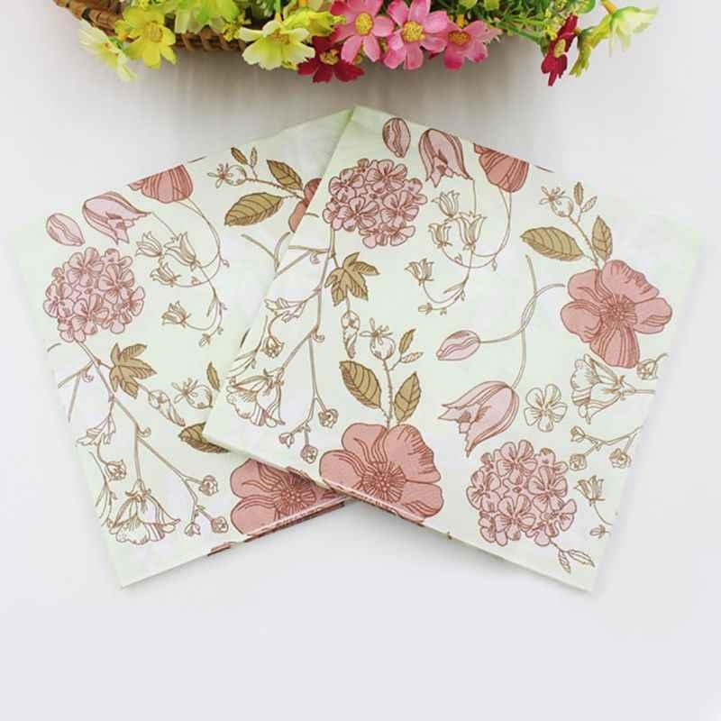 Serviette de Table beauté tissu imprimé caractéristique décoration serviettes en papier pour événement et fête 33cm * 33cm 20 pcs/paquet/lot