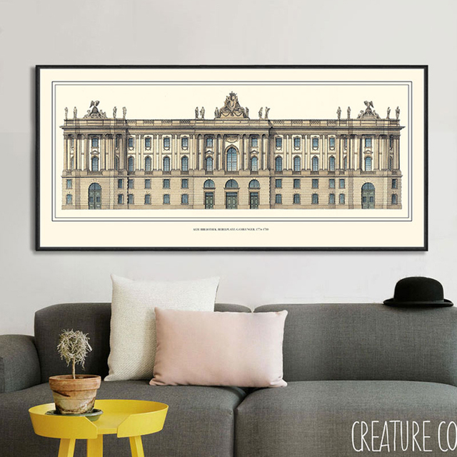 Italy Rome Vintage Landscape Painting Horizontal Rectangular Canvas Wall Art Modern Home Decor Posters And Prints