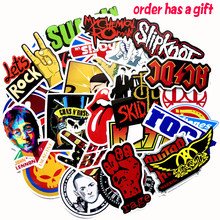 52pcs/lot Classic Famous Rock Band Punk Music Stickers Green days Nirvana DIY Waterproof Decals For Guitar Suitcase Skateboard(China)