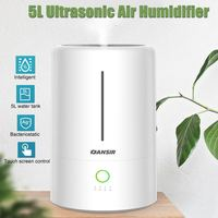 Household Silent 5L Ultrasonic Air Humidifier Aroma Essential Oil Diffuser for Home Office Car Fogger Mist Maker