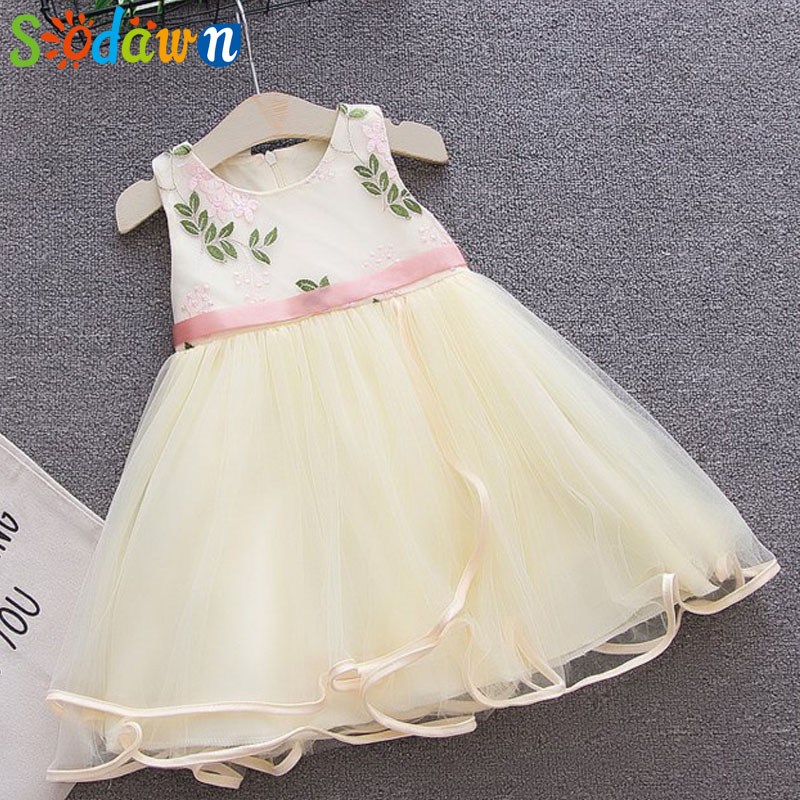 Sodawn 2018 Summer Girls Princess Vest Dress 1-5 Y Children Mesh Dress Children Clothing Fashion Party Dress Girls Cothes ...