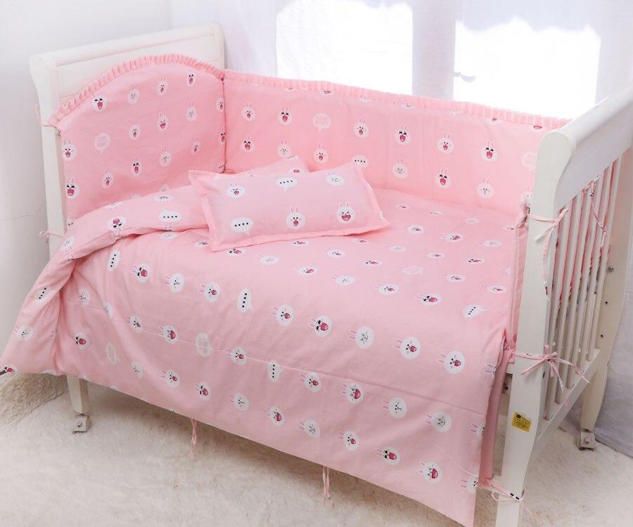Hoyuelo//Cuna EDREDÓN /& parachoques de cuna cama Set-Rosa