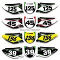 For Kawasaki KX250F KXF250 2009  2010 2011 2012 Custom Number Plate Sticker Decals & Backgrounds Graphics