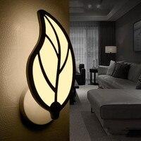 ICOCO Leaf Shape Wall Lamp Bedside Light Bedroom Lamp Corridor Light Warm White Night Lighting