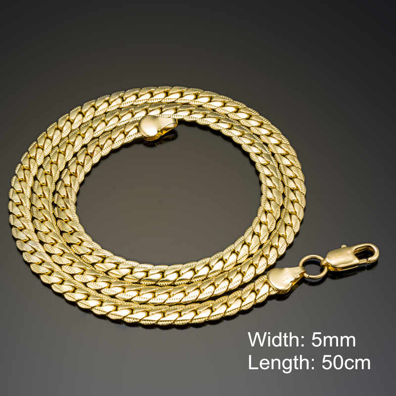 Fashion Silver&Gold-Color Chain Necklace For Men Women Stainless Steel Snake Chain Necklace Wholesale Chain Customized Jewelry