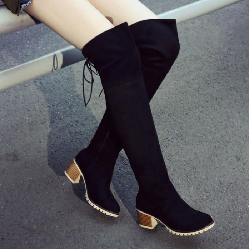winter boots women over the knee boots high heel boots equestrian blue black red boot autumn ladies shoes free shipping &S11-1 women over the knee boots black velvet long boots ladies high heel boots sexy winter shoes chunky heel thigh high boots