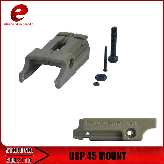 Element USP.45 MOUNT Low Pistol Flashlight Under Rail Mount Rail Adapter Laser Mount PA0202