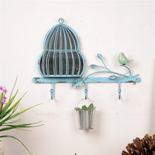 American Country Retro Old Iron Bird Cage Entrance Key Decor Hook Figurines Retro Bedroom Wall Decorations Tools Nostalgia Gifts(China)