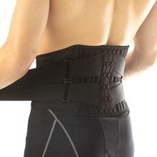 Cinturón de Soporte Lumbar para cintura corsé de tirantes para espalda baja y resistente, entrenador de cintura para el sudor, cinturón delgado para aliviar el dolor deportivo