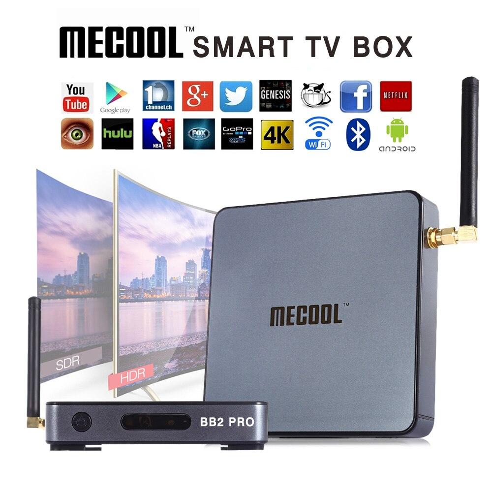 Mecool BB2 Pro Android ТВ Box Amlogic S912 64 бит Octa core ARM Cortex-A53 3 ГБ 16 ГБ 4 К wi-Fi BT4.0 2.4 г/5.8 Г Wi-Fi Телевизионные приставки