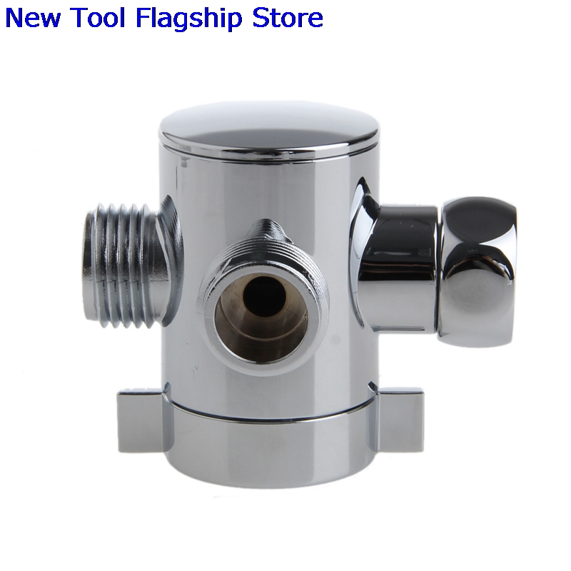 3 Way T Adapter Valve For Toilet Bidet Shower Head Diverter Valve 1/2 Inch