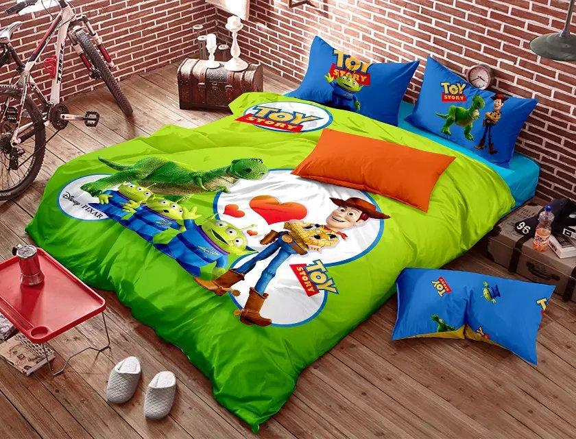Toy story kids bedding set cartoon queen size quilt doona ...