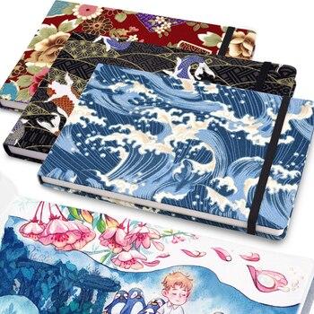 Aquarel Markers Notebook Professionele Tekening Papier Schetsboek Art Journal Leeg Notepad Draagbare Elastische Band 40 Vellen CC