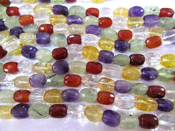 Полный прядь 16 аметист, цитрин зеленый красный прозрачный белый рок Crystal Mix кварц gemstone Грановитая самородок Баррель Свободные Шарики 8-25 мм