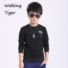 boys t-shirt lengthy sleeve tops 2017 matching outfits new scorching style male youngster informal boy sweatshirt tee